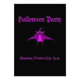 Halloween Party Flying Monster Invitation