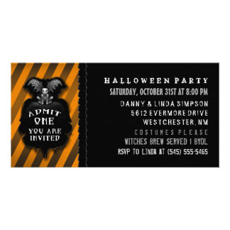 Halloween Party Gargoyle Admit One Invitation Picture Card