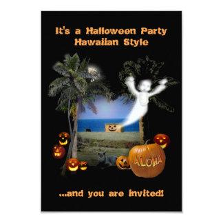 Halloween Party Hawaiian Style 9 Cm X 13 Cm Invitation Card