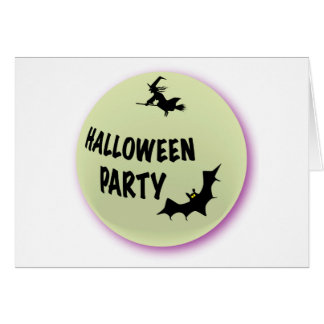 Halloween Party Icon Card