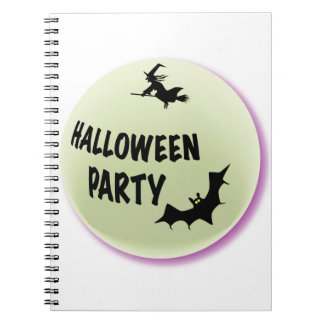 Halloween Party Icon Spiral Note Book