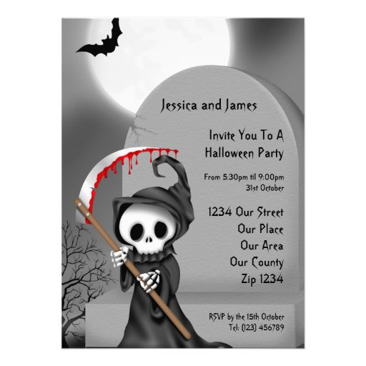 Halloween Party Personalized Announcements