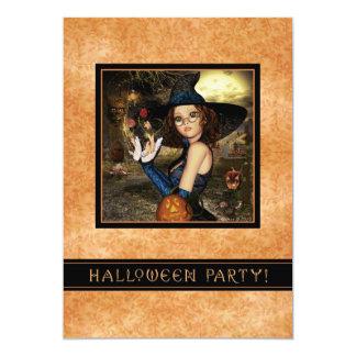 Halloween Party Invitation - Autumn Witch