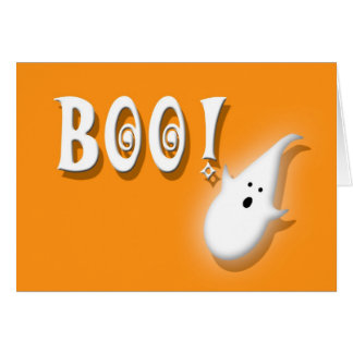 Halloween Party Invitation Boo! Kids Greeting Card