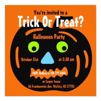 Halloween Party Invitation Jack O Lantern 1