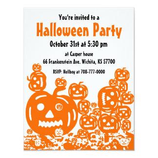 Halloween Party Invitation Jack O Lantern 4