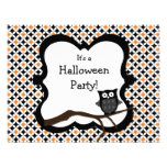 Halloween Party Invitation - Owl