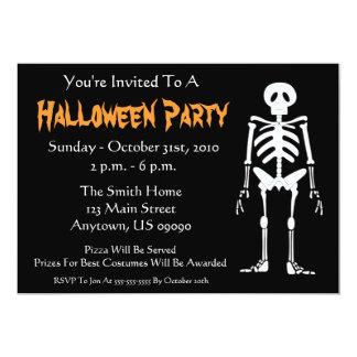 Halloween Party Invitation (Skeleton Black)