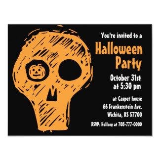Halloween Party Invitation Skull 1