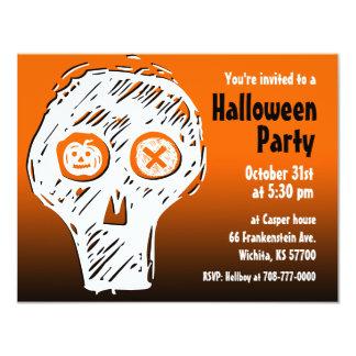 Halloween Party Invitation Skull 2
