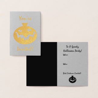 Halloween Party Invitation | Spooky Pumpkin Face