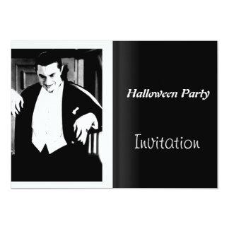 "Halloween Party Invitation Vintage Movie Night 5"" X 7"" Invitation Card"