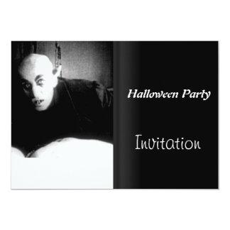 "Halloween Party Invitation Vintage Movie Night 2 5"" X 7"" Invitation Card"