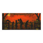 Halloween,party.invitations,trick-or-treat Card