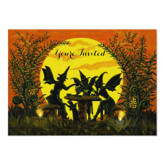 Halloween party invitations,witch fairy's 13 cm x 18 cm invitation card