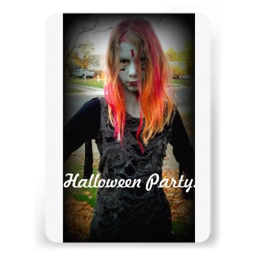 Halloween Party Invite Zombie Style Invitations