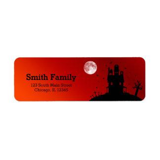 Halloween party return address label