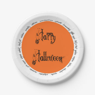 Halloween Party Plate 7 Inch Paper Plate