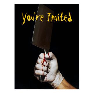 Halloween party postcard invite