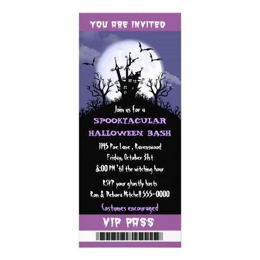 Halloween Party VIP Pass Custom Announcement