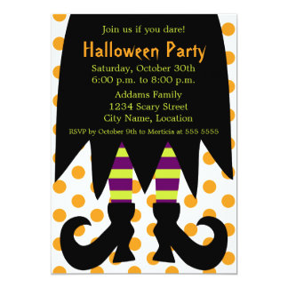 Halloween Party Witch Invitation
