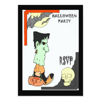 Halloween party zombie 5x7 paper invitation card