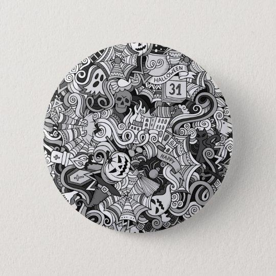 Halloween pattern 6 cm round badge