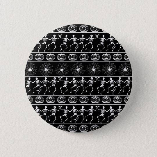 Halloween pattern 6 cm round badge