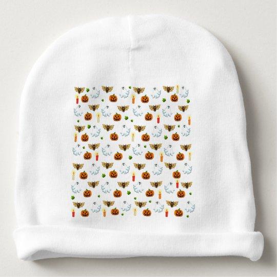 Halloween pattern baby beanie