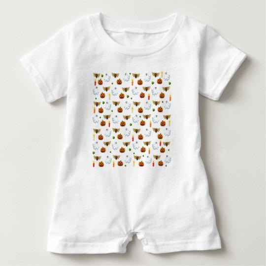 Halloween pattern baby bodysuit