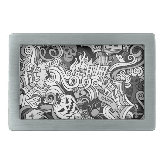 Halloween pattern belt buckle
