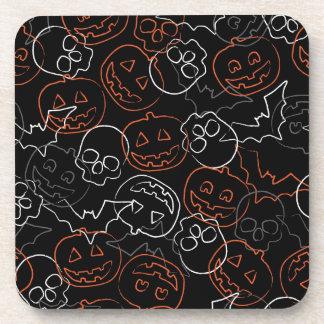 Halloween Pattern Beverage Coaster