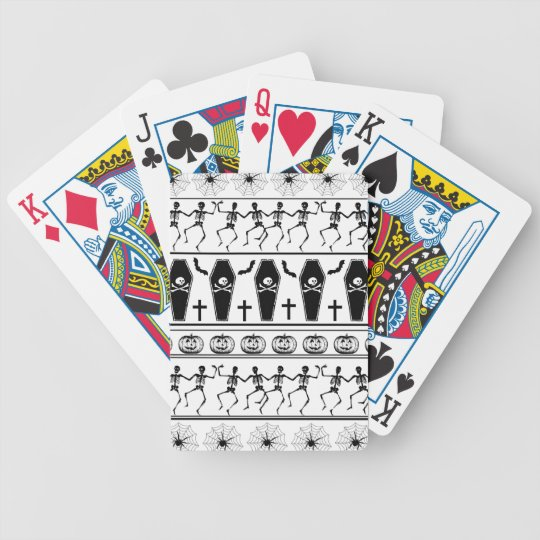 Halloween pattern bicycle playing cards
