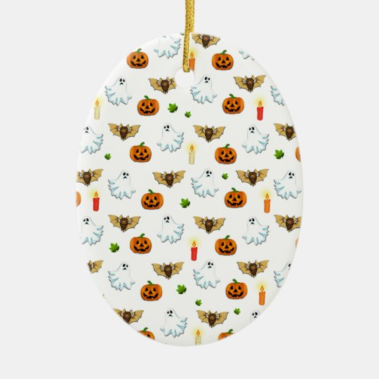 Halloween pattern ceramic ornament