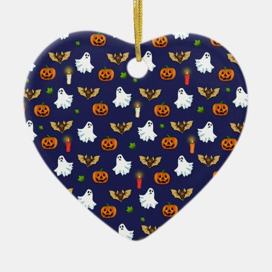 Halloween pattern ceramic ornament