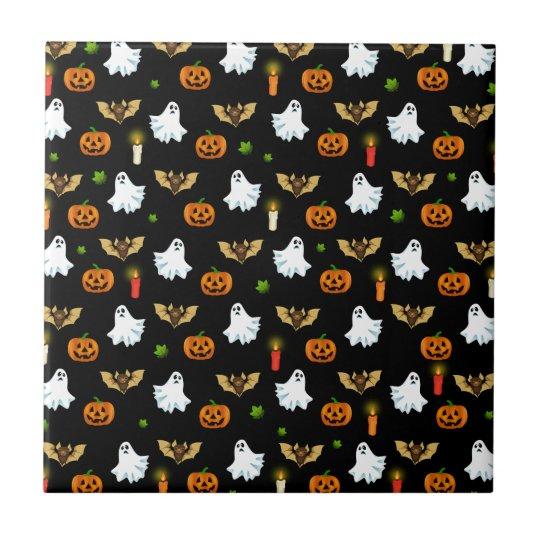 Halloween pattern ceramic tile