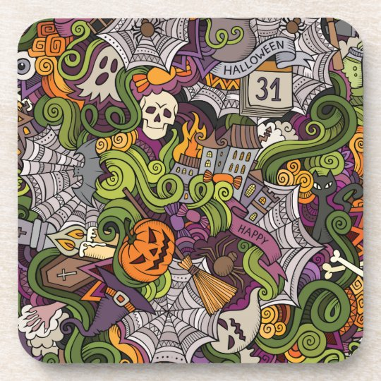 Halloween pattern coaster