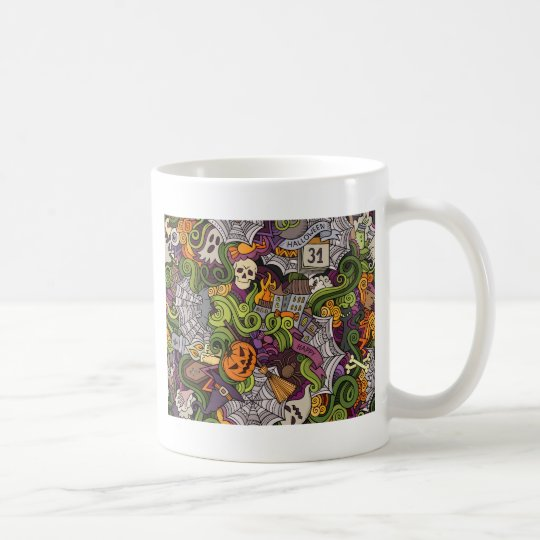 Halloween pattern coffee mug