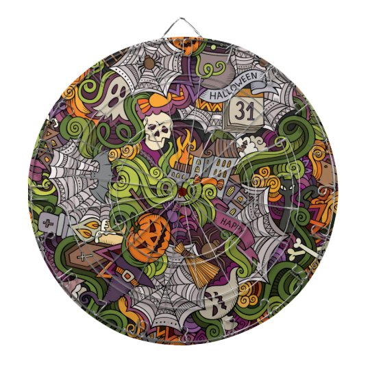 Halloween pattern dartboard