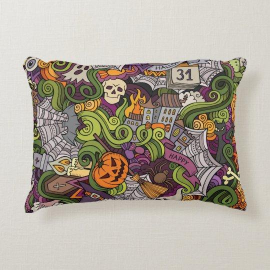 Halloween pattern decorative cushion