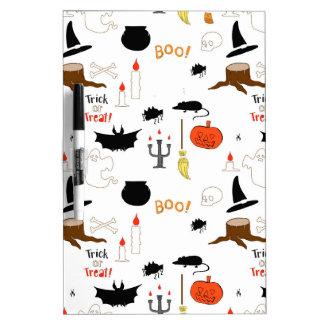 Halloween Pattern Dry Erase Board