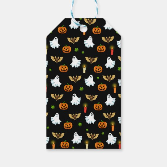 Halloween pattern gift tags