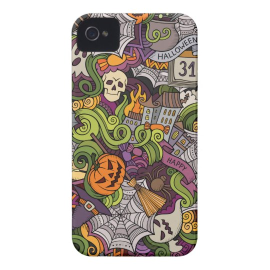 Halloween pattern iPhone 4 Case-Mate case