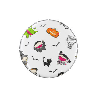 Halloween Pattern Jelly Belly Tins