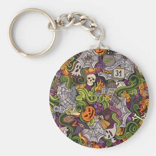 Halloween pattern key ring