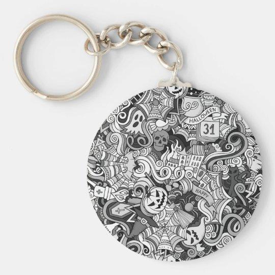 Halloween pattern key ring