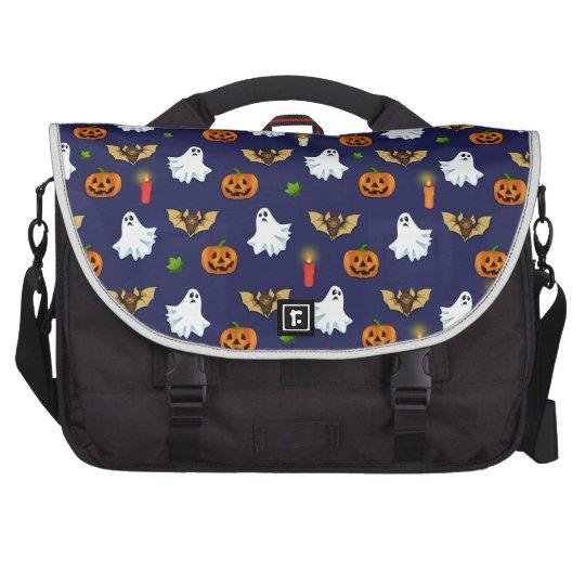 Halloween pattern laptop commuter bag