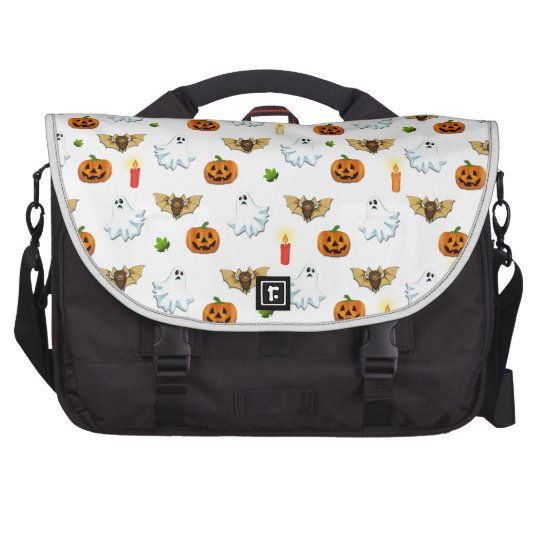 Halloween pattern laptop shoulder bag