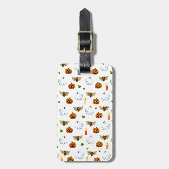 Halloween pattern luggage tag