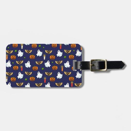 Halloween pattern luggage tag